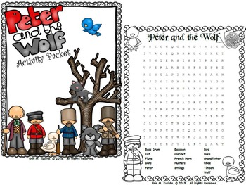 English worksheet: Peter and The Wolf | Elementary Music Peter ...