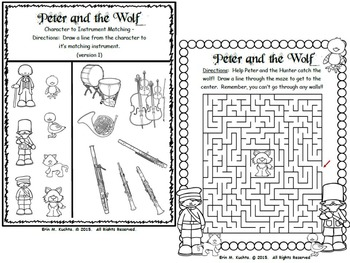 Peter and the Wolf - Activity Fun Packet (Worksheet Collection)