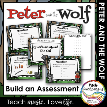 Peter and the Wolf - Assessment - Build your own!  73 Options!