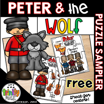 Peter and the Wolf Character-Themed Puzzles (in Color) FREEBIE