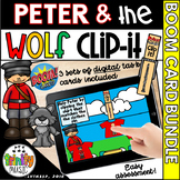 Peter and the Wolf Clip-It Boom Cards - Digital Task Cards BUNDLE