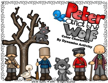 Peter and the Wolf - Color By Dynamics (Worksheet Packet)
