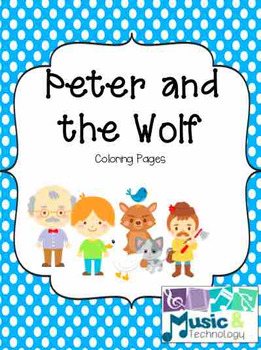 Peter And The Wolf Coloring Pages By Music And Technology