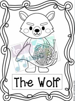 Peter and the Wolf Coloring Pages by Music and Technology | TpT