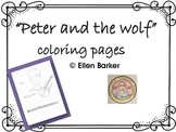Peter And The Wolf Coloring Pages Teaching Resources