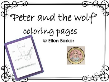 Peter and the Wolf Coloring Pages by Two Little Barkers Studio | TpT