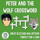 Peter and the Wolf Crossword Puzzle, Great for Sub or Blizzard Bag!