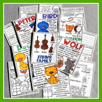 Peter and the Wolf Listening Journal & Fact Sheets