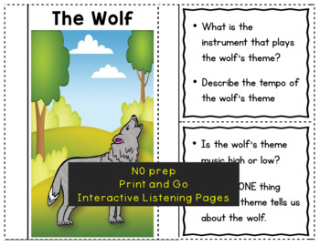 Peter and the Wolf Music Listening Activities: Foldables