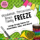 Instrument Family Freeze - Smart Board Game and Printables