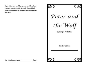 Peter and the Wolf - Illustrate While You Listen Booklet