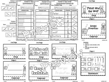 Peter and the Wolf Interactive Worksheets