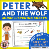 Music Appreciation: Peter and the Wolf Music Listening Worksheets