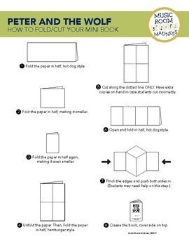 Peter and the Wolf Mini Book Foldable Worksheet