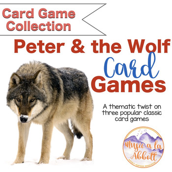 Peter and the Wolf Playing Cards {Old Maid, Go Fish & Memory}
