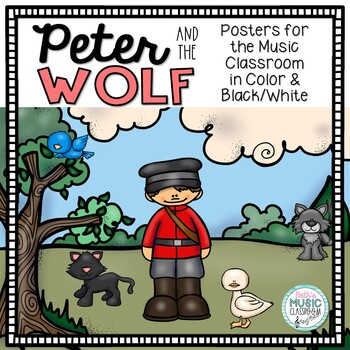 Peter and the Wolf Posters - Instruments & Characters