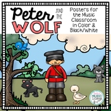 Peter and the Wolf Instruments & Characters Posters
