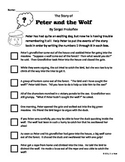 Peter and the Wolf Story Scramble