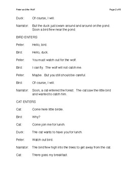 Peter and the Wolf Short Script