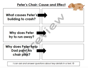 Peter's Chair Graphic Organizers & Writing Activities (Reading Street 4.5)