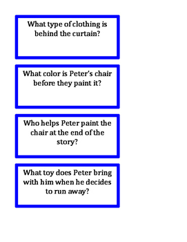 Peter's Chair WH questions for Cariboo