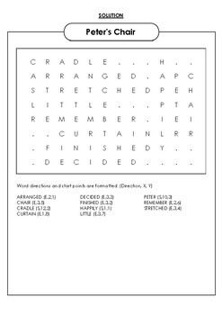 Peter's Chair Word Search