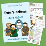 Peter's defence Kidmin Lesson & Bible Crafts - Acts 4