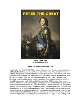 Peter the Great - A Short History