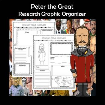 Peter the Great Biography Research Graphic Organizer