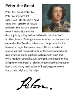 Peter the Great Handout