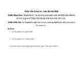 Peter the Great vs. Ivan the Terrible