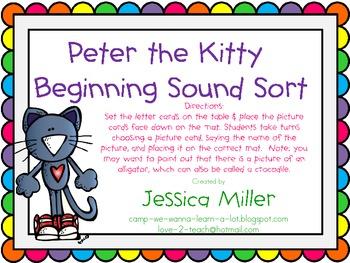 Peter the Kitty Beginning Sound Sort