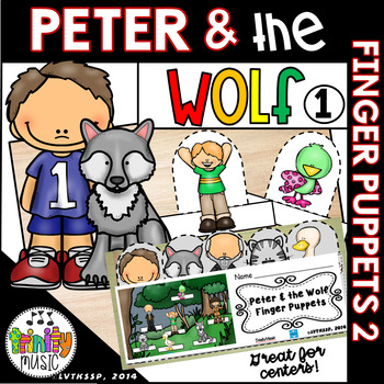 Peter & the Wolf Finger Puppets (for active listening)