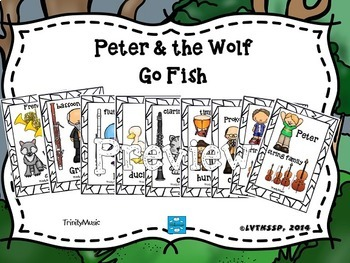 Peter and the Wolf Go Fish Game