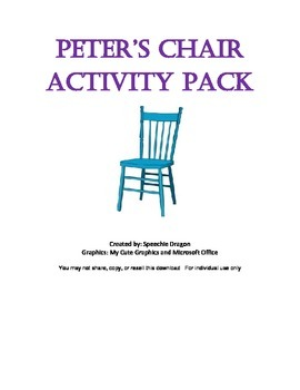 Peter's Chair Activity Pack