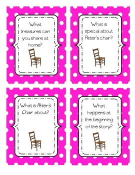 Peter's Chair Comprehension Cards