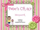 Peter's Chair Homework - Scott Foresman 1st Grade