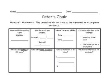 Peter's Chair  Scott Foresman