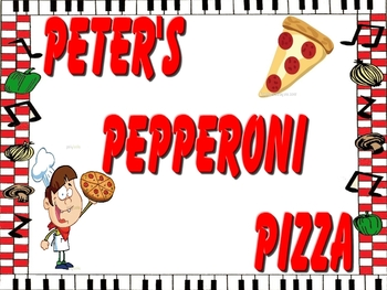 Pete's Pepperoni Pizza Book!