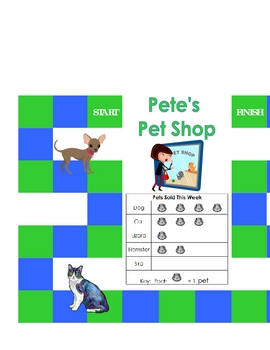 Pete's Pet Shop Pictograph Math Learning Center Game #1