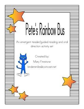 Pete's Rainbow Bus Level B Reader and Activity Set