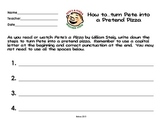 Pete's a Pizza How to Writing Prompt