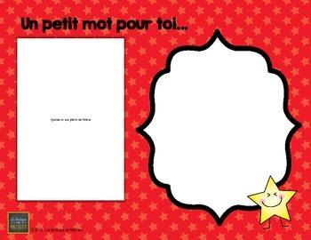 Petit Mot Pour Toi… ( Fin d'année – document modifiable) [Editable] [French]