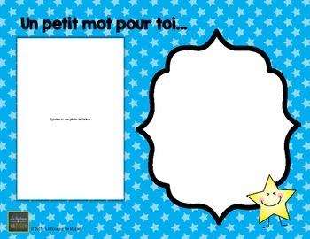 Petit Mot Pour Toi… ( Fin d'année – document modifiable) [