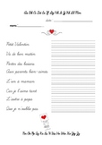 Écriture cursive - Petit Valentin