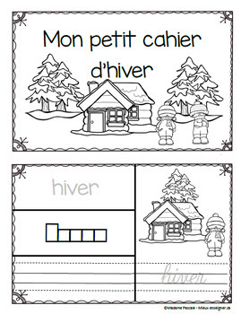 Petit cahier d'hiver / winter french little book