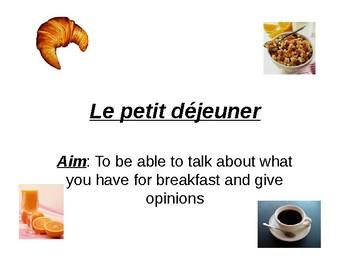 Petit dejeuner / Breakfast / Food and drink