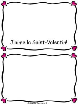 Petit livre pour La Saint-Valentin! (French, French immersion, emergent reader)