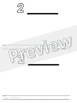 Petit livret de nombres 1-20 (French student-created number booklet)