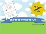 Petit livret de nombres 1-20 (French student-created numbe